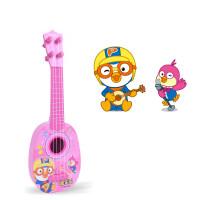 儿童吉他尤克里里初学者仿真儿童玩具礼物男孩女可弹奏乐器玩具 啵乐乐粉色尤克里里【55cm】 送爱心拨片