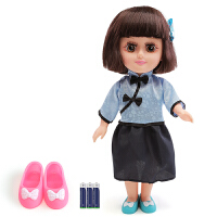 会说话的娃娃套装智能洋娃娃1-3周岁6布娃娃玩具女孩公主仿真男孩儿童宝宝玩具 35cm 1代民国芭比娃娃(电池版) 精