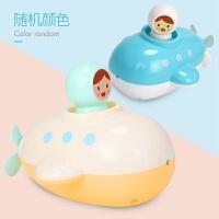 发条潜水艇宝宝洗澡玩具儿童浴缸玩具婴儿戏水男孩女孩水上游泳 单只纸盒装【两种颜色随机发】