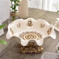 欧式创意陶瓷果盘摆件 新房乔迁欧式果盘工艺品装饰品创意陶瓷水果盘茶几摆件