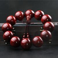 正宗印度爆满金星小叶紫檀2.0老料手串男款1.8佛珠情侣手链108颗