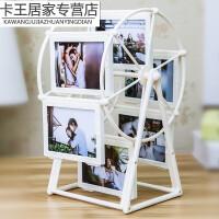 个性相框摩天轮 摩天轮相框创意儿童摆台组合个性情侣闺蜜女生日相架礼品礼物5寸B