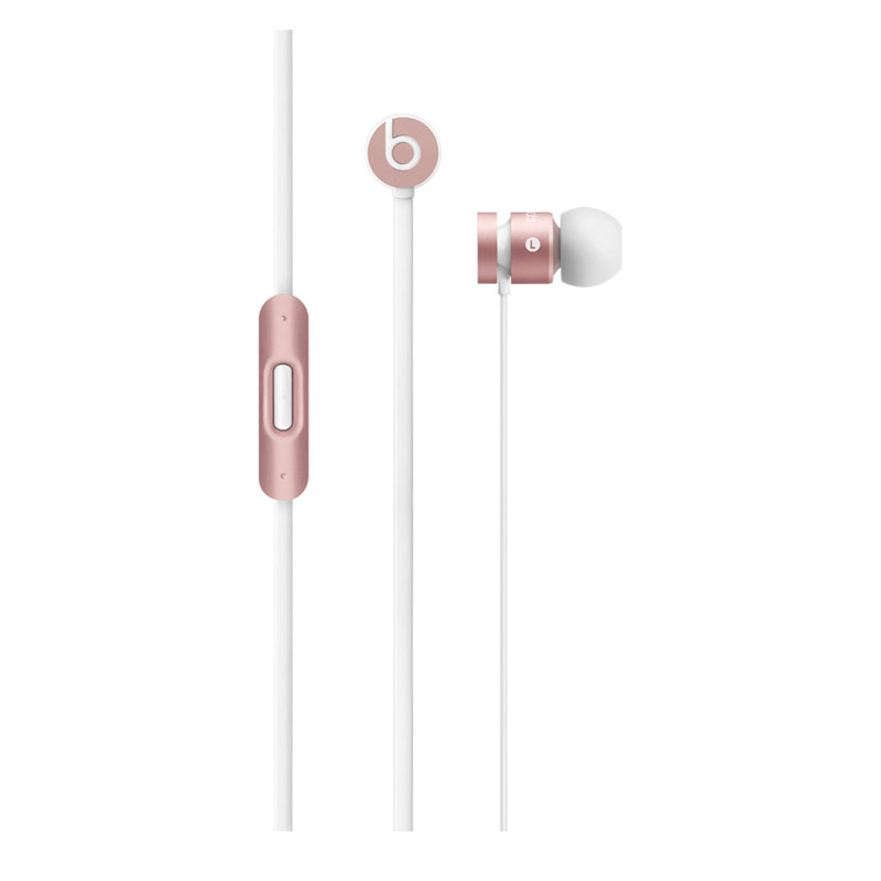 Beats urBeats 入耳式耳机 玫瑰金色 手机耳机 三键线控 带麦 MLLH2PA/B可使用礼品卡支付 国行正品 全国联保
