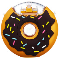 六一儿童节520Familyout甜甜圈儿童吸管水杯夏季宝宝男女饮水塑料杯防摔漏便携 巧克力色380ML吸管杯