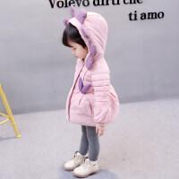女宝宝外套女宝宝冬装外套女童棉衣2018新款1童装婴儿棉袄冬季2加厚3岁ZQ75蓝