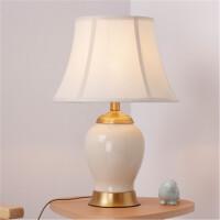 全铜中式陶瓷台灯温馨卧室床头灯客厅复古美式乡村书桌灯
