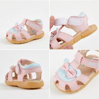 0-1-2岁女宝宝凉鞋夏季幼儿公主鞋软底鞋6-12个月婴儿凉鞋学步鞋