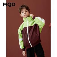 MQD男童立领外套中大童蝙蝠袖上衣2019新款秋装儿童韩版宽松开衫