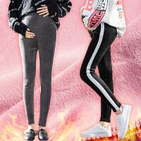孕妇打底裤冬季加绒加厚2018新款外穿托腹保暖棉裤秋冬装孕妇裤子