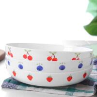 【优选】可爱创意骨瓷餐具套装日式圆形碟子菜盘汤盘家用�h饭陶瓷西餐盘子