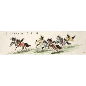 石川《马到成功》中国风 国画 精品 装饰 送人字画的佳品