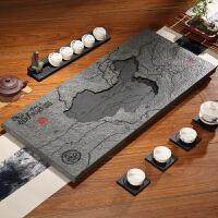 【好店】乌金石茶盘创意简约办公家用复古小号大号托盘小茶海石头雕刻茶台