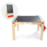 宝宝桌式画板黑板支架式家用儿童写字涂鸦可升降画架小白板 (送小蝴蝶粘土)二合一桌式画板