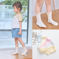 儿童棉袜精梳棉宝宝男女袜春秋棉袜舒适棉中童袜1-12岁