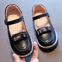 女童鞋�和�鞋女春秋鞋子女童黑皮鞋黑色皮鞋小皮鞋演出鞋�底
