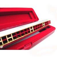 (货到付款)乐器 奇美口琴 28孔口琴 重音口琴宽音域专业口琴(银色)QM-2505