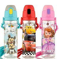包邮 迪士尼580ML背带吸管水瓶 宽口吸管夏季塑料水壶 便携学生水杯子
