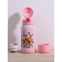 儿童保温水壶带吸管316不锈钢小学生幼儿园男女宝宝防摔水杯