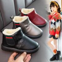 冬季儿童雪地靴女童中大短靴男童小宝宝鞋