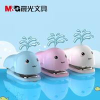 M&G晨光 ABS92821 订书机套装卡通鲸鱼12号 颜色随机 当当自营