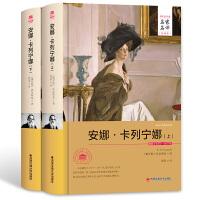 安娜卡列宁娜 正版全上下2册精装全译本无删减原版原著中文版完整版书 青少年成人版小说 初中生课外书 文学书籍世界名著图书