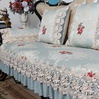 欧式沙发垫布艺四季通用防滑坐垫美式皮沙发巾全盖套