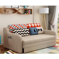 【品牌特惠】沙发床可折叠推拉1.5米两用客厅小户型单双人布艺沙发1.8米 1.8米-2米