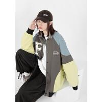 潮牌欧美嘻哈运动夹克男外套秋季韩版宽松棒球服
