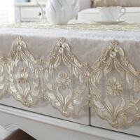 欧式田园蕾丝纱布艺茶几餐桌客厅沙发巾长方形台布盖巾桌布垫定制 图片色