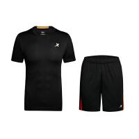 【特步精品直降】 特步 男子针织跑步套装 舒适时尚上衣882229959130