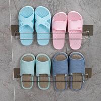 双庆浴室壁挂式拖鞋架强力免打孔毛巾架置物架卫生间不锈钢收纳架