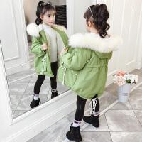 女童中长款加厚外套棉袄 2019秋冬季新款中大童洋气棉衣