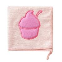 细纤维吸水洗碗布厨房清洁布毛巾家用加厚不掉毛抹布擦手巾 粉色