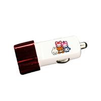 车载usb充电器可爱卡通随身便携电子车充创意礼物礼品