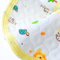 婴儿按扣围嘴棉宝宝圆形旋转围兜大号饭兜3条婴儿口水巾
