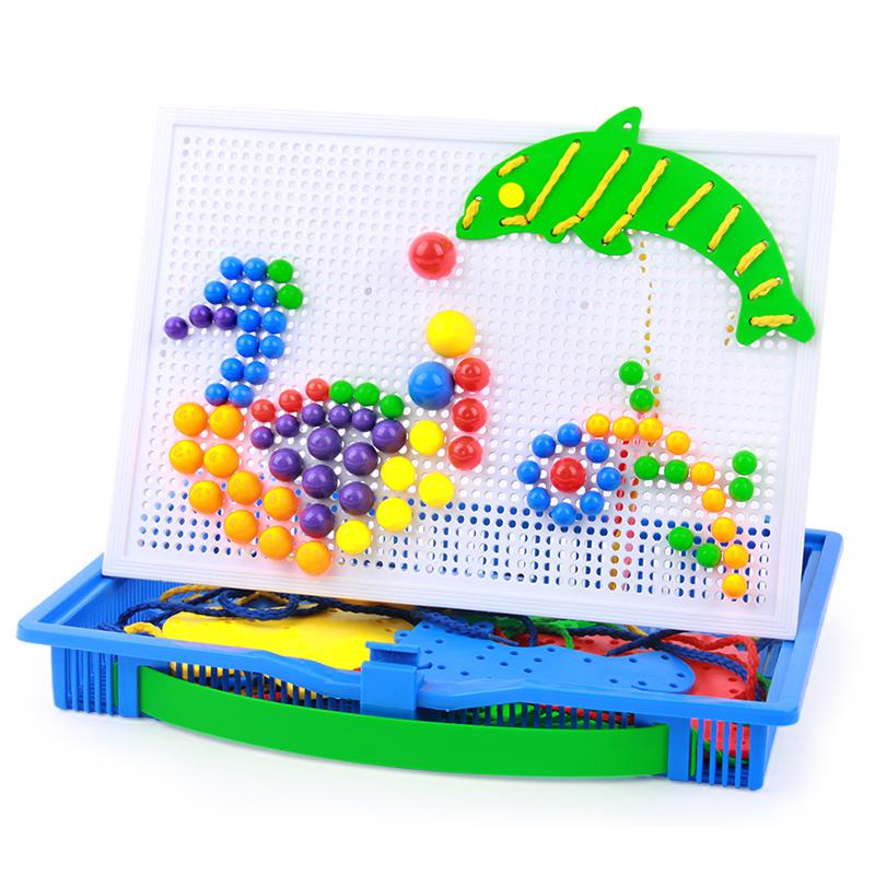橙爱潜力 益智玩具 蘑菇钉组合插板儿童玩具 塑料拼插积木玩具 儿童拼装玩具 蘑菇钉玩具 生日礼物 3-6岁益智玩具限时钜惠
