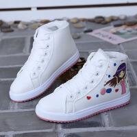 新款秋冬季加绒大棉鞋女学生板鞋高帮鞋冬鞋子冬天保暖女鞋