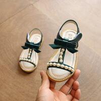 宝宝沙滩鞋子儿童凉鞋2019夏季童鞋女中小童珍珠公主鞋女童凉鞋