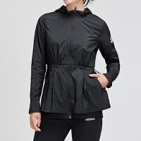 adidas女服外套夹克2019新款梭织休闲运动服EA3106