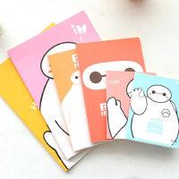 韩国文具创意卡通车线本大白上翻线圈本便携记事本学生笔记本本子