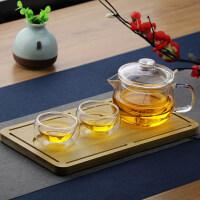 【新品】单人办公室耐热高温玻璃迷你花茶泡茶壶透明功夫茶具小号茶壶过滤