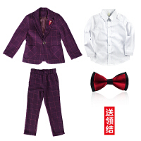 男童西装套装男童西装套装2018新款帅气时尚韩版英伦中大童花童礼服儿童小西服MYZQ59