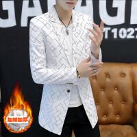 男士西装2018新款秋季韩版修身帅气风衣男加绒中长款学生外套潮流