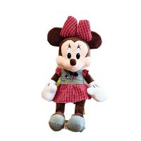 新款创意开心款米奇米妮情侣公仔毛绒玩具米老鼠儿童 布娃娃玩偶