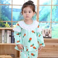 春秋季儿童女童睡衣长袖小童女孩小孩婴儿宝宝家居服套装MYZQ41