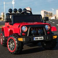 儿童电动车四轮儿童汽车可坐带遥控宝宝电动玩具车摇摆童车越野车zf10