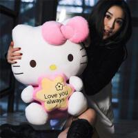 正版hello kitty公仔哈�DKT�娃娃玩偶毛�q玩具抱枕生日�Y物女孩
