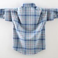 男童衬衣秋款秋装儿童衬衫长袖格子保暖男孩春秋外套
