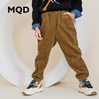 MQD童装男童休闲灯芯绒裤2019秋装新款中大童洋气收脚运动裤儿童