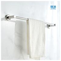 浴室304不锈钢毛巾架单杆毛巾杆加长毛巾挂卫生间挂毛巾卫浴挂件